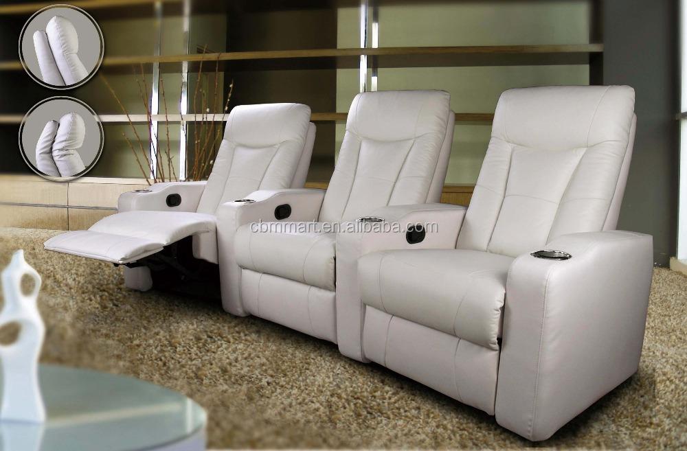 Cinema Chair Three Seat Leather Single/ Double/ Recliner Sofa