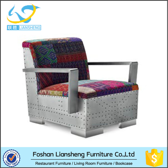 Modern Fashion Distinct Appearance leisure chair India Patchwork Cover Chair With Arms Home Furniture