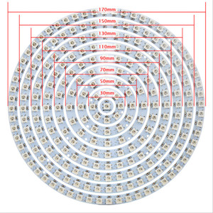 Addressable pixel WS2812B ring 1 8 12 16 24 32 40 48 60 93 241 LEDs WS2812 SK6812 5050 RGB LED Ring WS2811 ic Built-in RGB DC5V