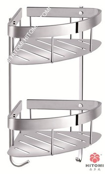 Stainless Steel Bathroom Corner Basket Shower Shelf