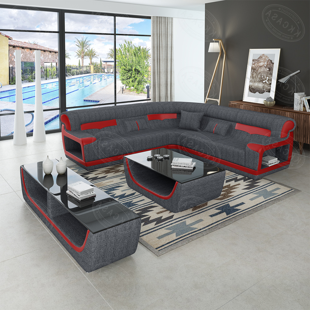 New Design Modern Kk Casa Genuine Leather Sofa Furniture L Shaped Corner  Sofa - Buy High Quality L Shaped Sofa,Leather Corner Sofa,Sofa Furniture ...