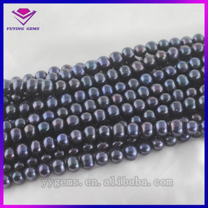 New Product Black Freshwater Pearl Precious Stones For Silver Jewelry