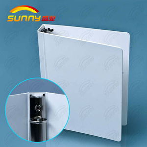 Printing transparent plastic ring binder folder