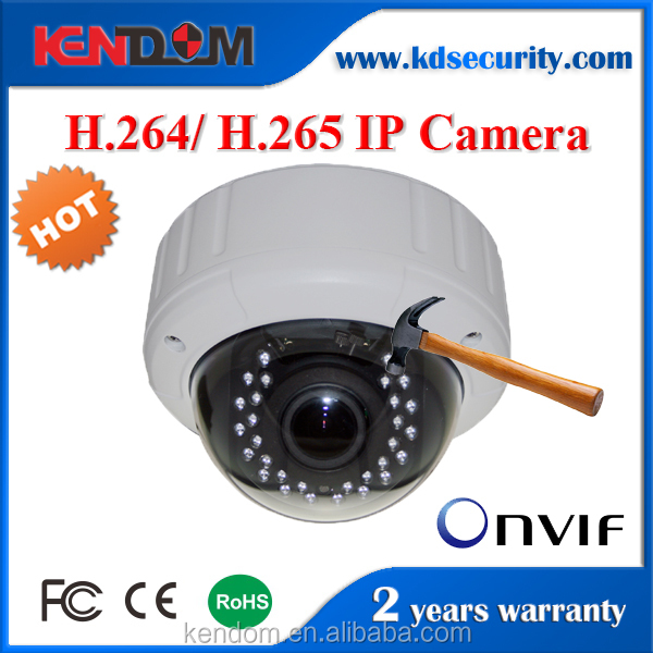 Kendom Outdoor IR Vandal proof Security Dome P2P Varifocal Lens CCTV Onvif 720P COMS IP Camera