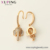 98755 Xuping new design aretes de moda gold plated jewelry aretes de mujer elephant style women pendant earrings