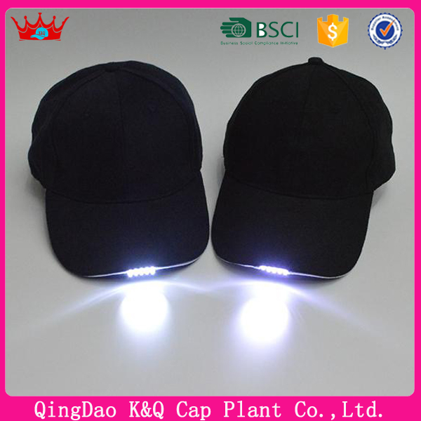Bright LED Cap Glow In Dark For Reading Fishing Jogging Light Up LED Sport Caps