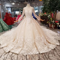 LS11288 Jancember long sleeve O-neck detachable skirt beaded and satin sparkly wedding dresses pictures and prices wedding