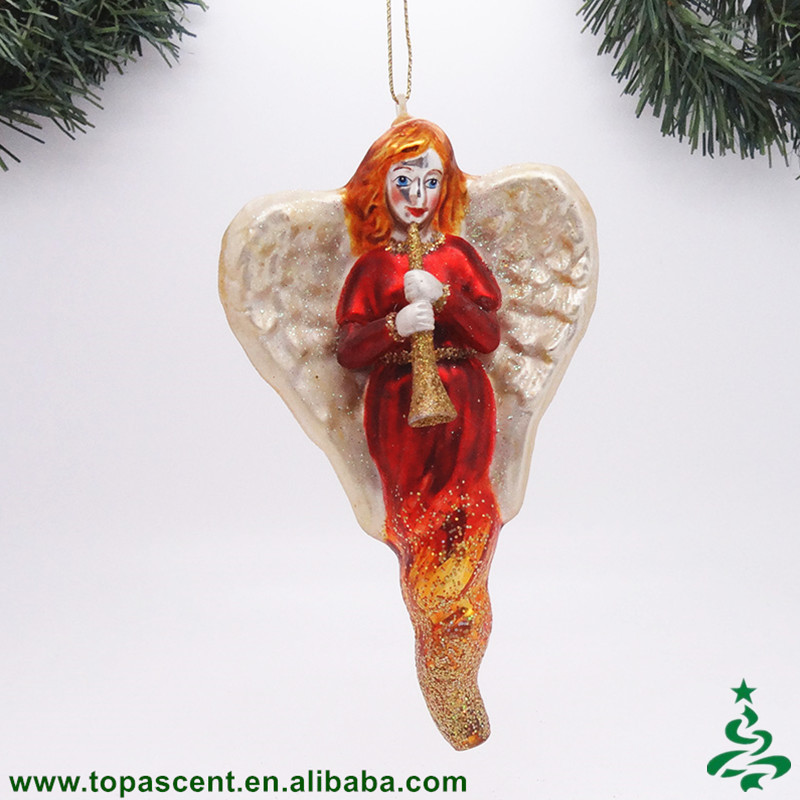 Popular Blown Glass Hanging Animated Christmas Angels Ornament ...