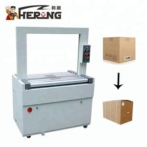 HERO BRAND Ppt High Table Carton Band Box Sealing Desk Curtain Strapping To Making Machine