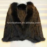 New Style Fashion Knitted Faux Fur&Faux Fur Wedding Shawl