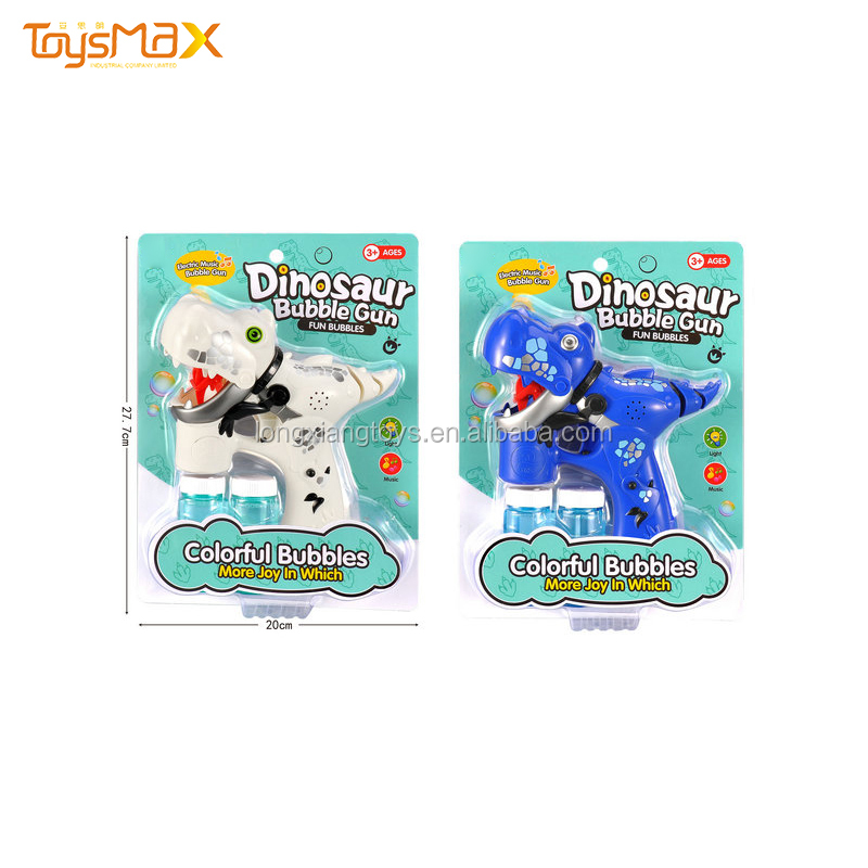 Wholesale Dinosaur  Bubble Gun Toys Shooter Blower  Electronic Machine With Music
