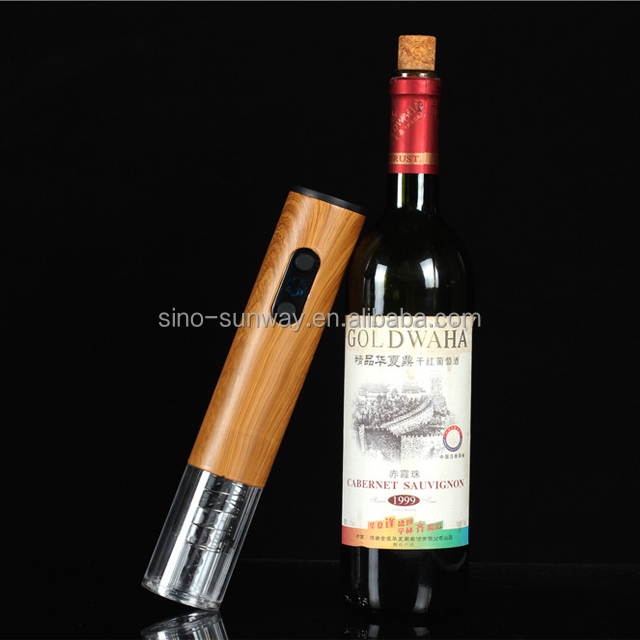 The wood handle bottle opener wine accessories,wood electric wine opener for 2018 gift