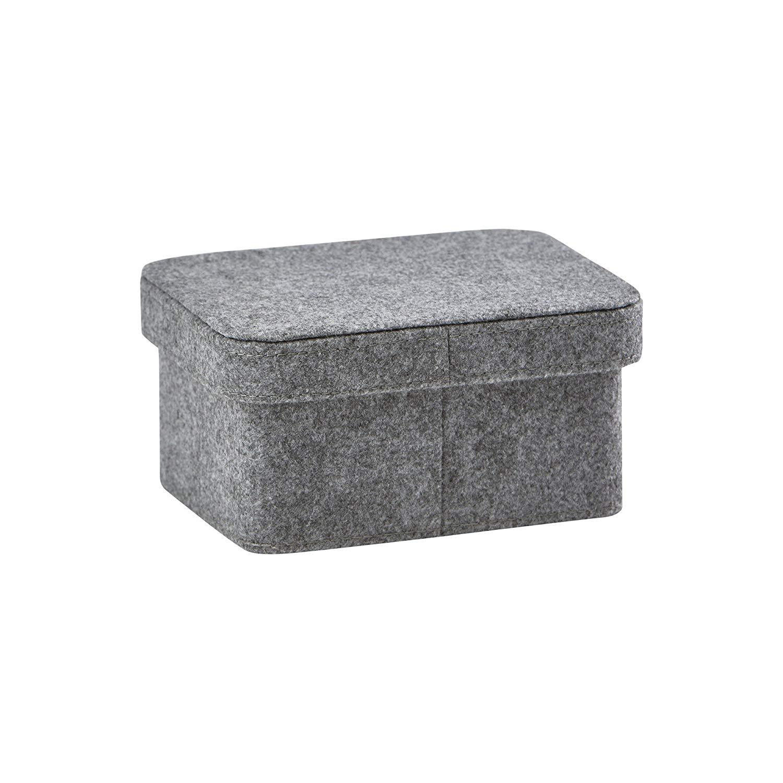 Nova Bath Collection Imago Square Bath Storage Bin, Basket Organizer for Towels, Magazines, Toys (Dark Gray) (Small (6.7 W x 5.1 D x 3.3 H in))