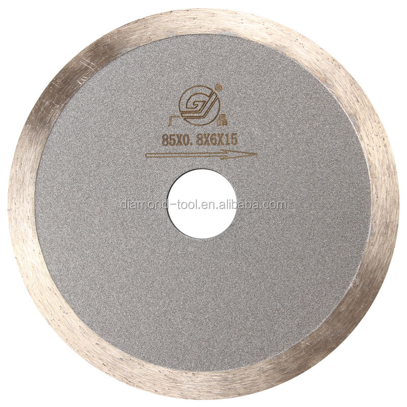 high cost-effective 3.2 inch 85mm super thin diamond cutting saw blade for glass