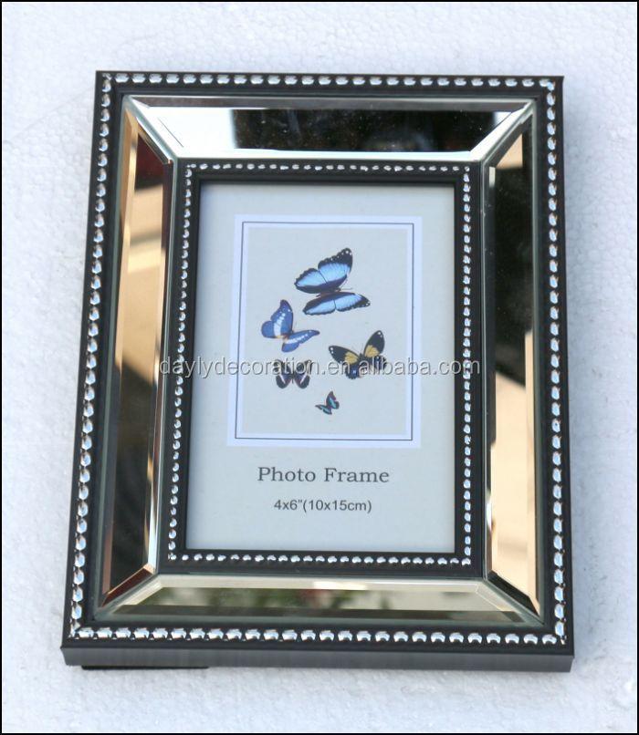 Fase Silber Spiegel Bilderrahmen Einfachen Glas Bilderrahmen ...