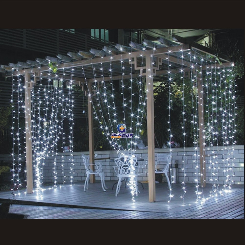led window curtain icicle lights for christmas halloween. Black Bedroom Furniture Sets. Home Design Ideas