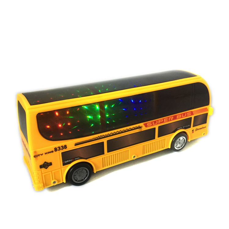 Pull Back Small Plastic Toy Car Model With Led Light And Music