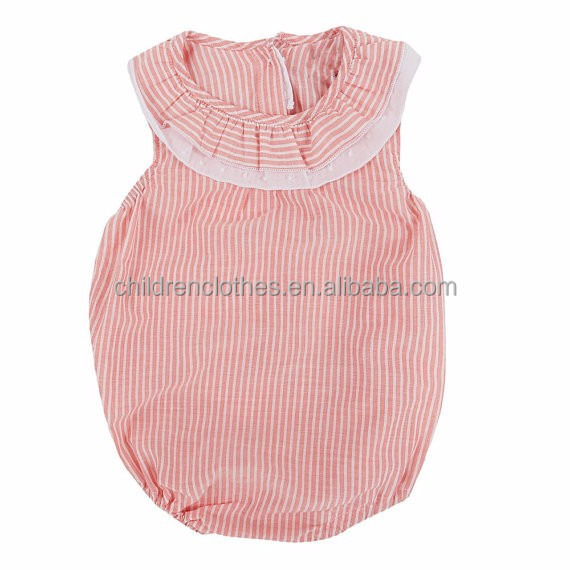 Top 100 baby girl names image cotton baby clothes Pink striped kids romper