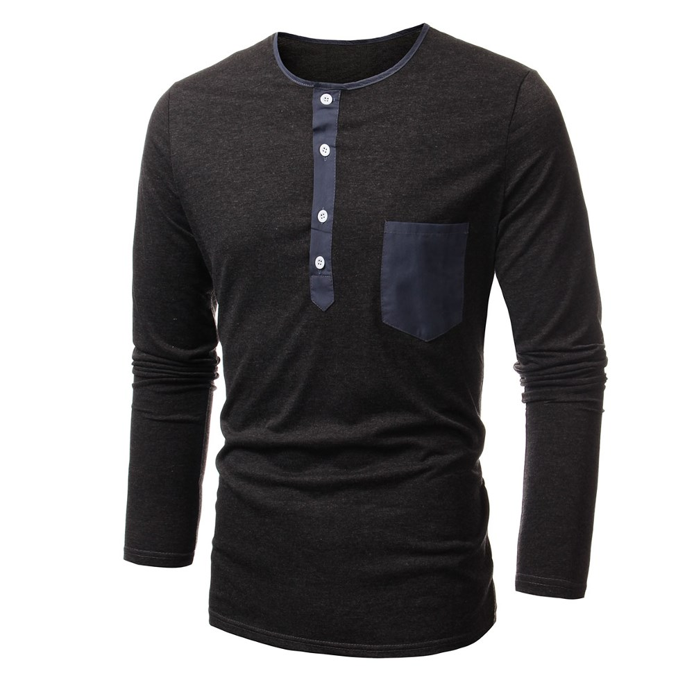 ec2e405aa0d Get Quotations · 2015 Spring Autumn Mens New Style Long Sleeve T Shirts  Males Fashion Multi Buttons Casual Tops