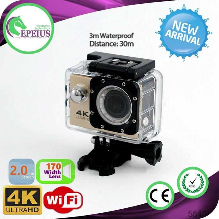 4K 30FPS Video F60 WIFI CAMERA vivitar 4k action camera with lcd screen & wifi review HD 1080P 60FPS VIDEO Sports Camera