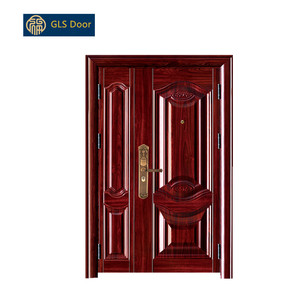 unequal double leaf door two leaves door steel swing half door with Sidelites