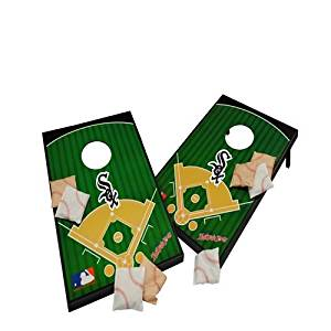Chicago White Cornhole Set, MLB Tailgate Toss, 2x3, MDF, All Weather, Portable, Includes 8 Bags