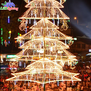Wholesale Artificial PVC Christmas Tree with LED light Christmas Tree set with Decorative berry
