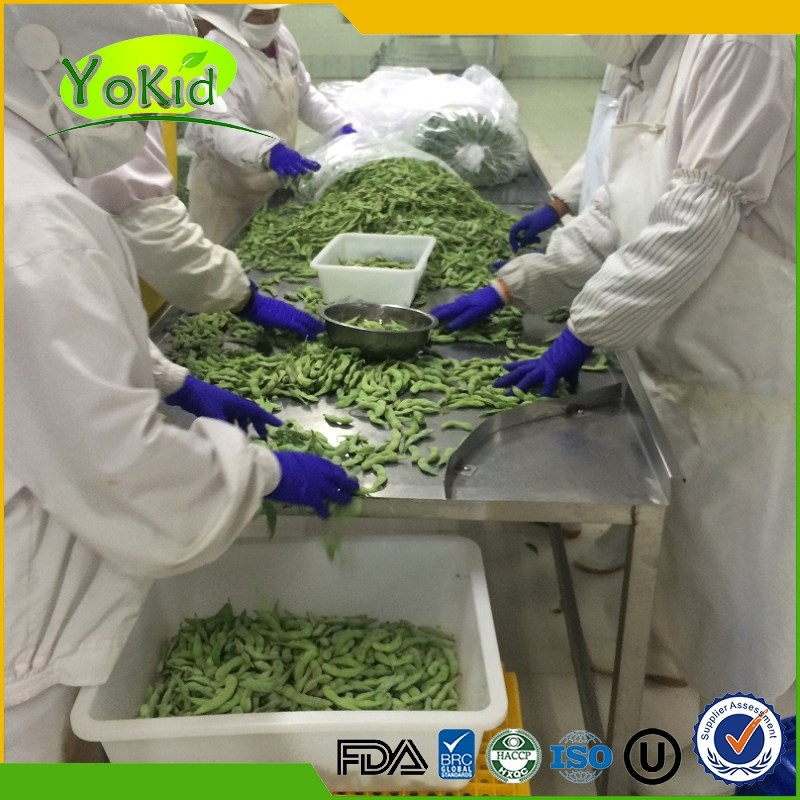 supply frozen vegetables iqf green soybeans
