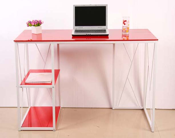 Office /living Room Furniture Metal Frame Computer Desk Table With ...
