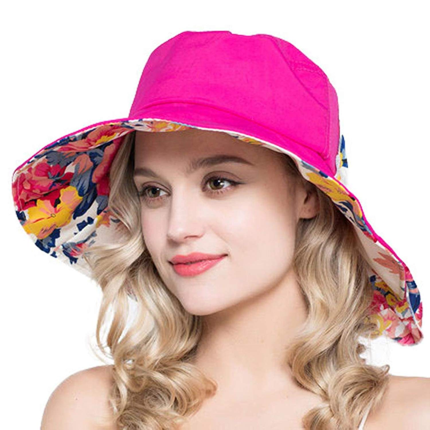 ff1c325db03 Get Quotations · Fashion Hats Ladies Summer Wide Brim UV Sunhat Women Hats  for Beach Holidays Floppy Sun Hats