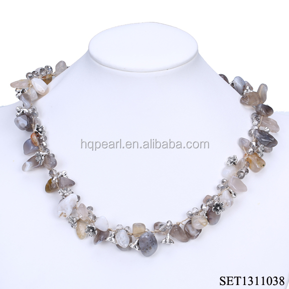 fashion jewelry stone jewelry set