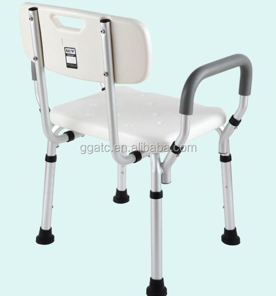 Hogar de aluminio pl stico sillas de ducha ba o m dica for Sillas para orinar ancianos
