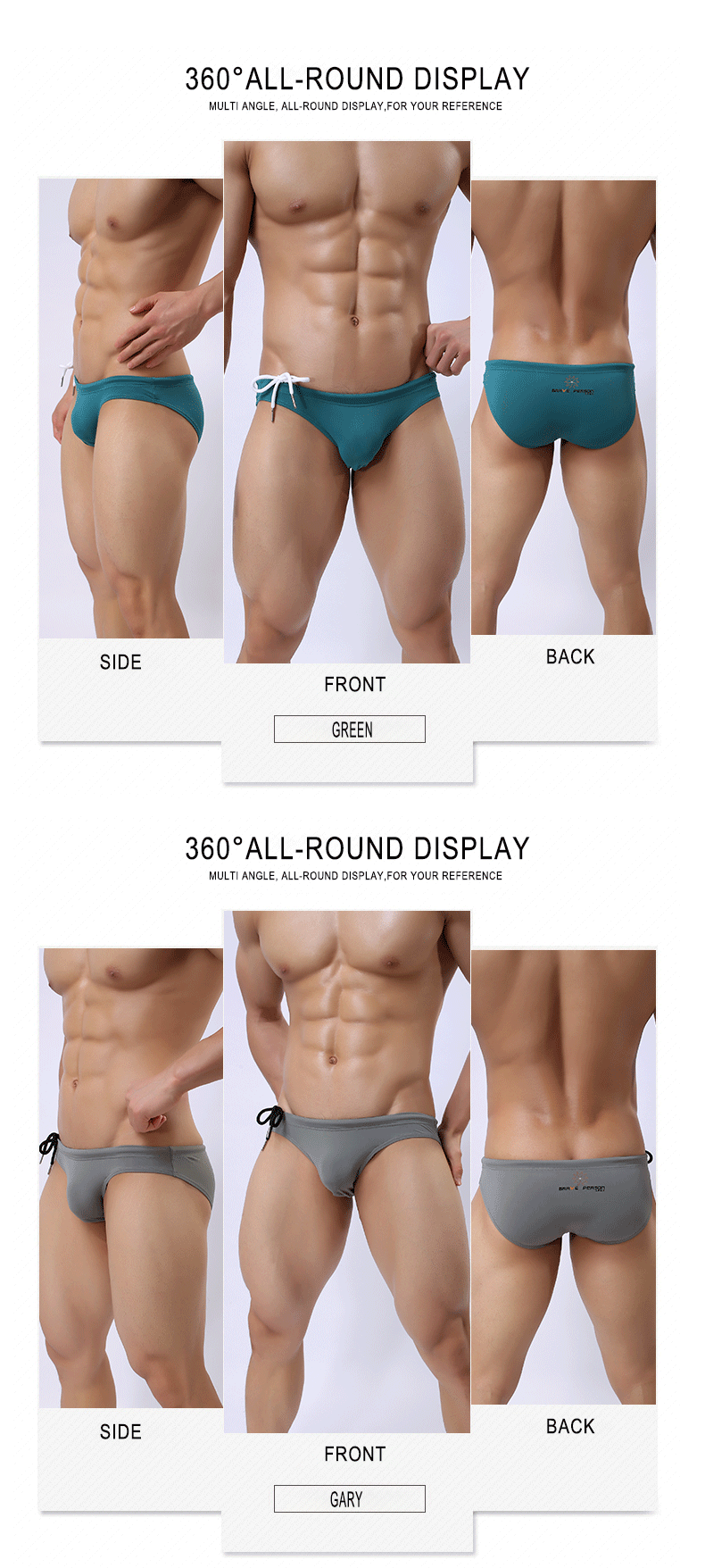 Custom Brave Person Mens Swimwear Nylon Swim Briefs Wholesale
