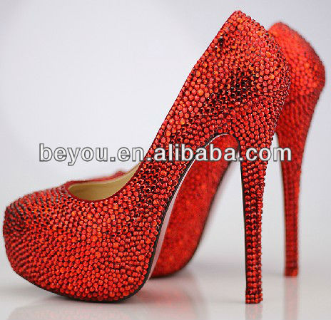 Bling Swarovsk In Red Couture Crystal Shoes FpYFAaq
