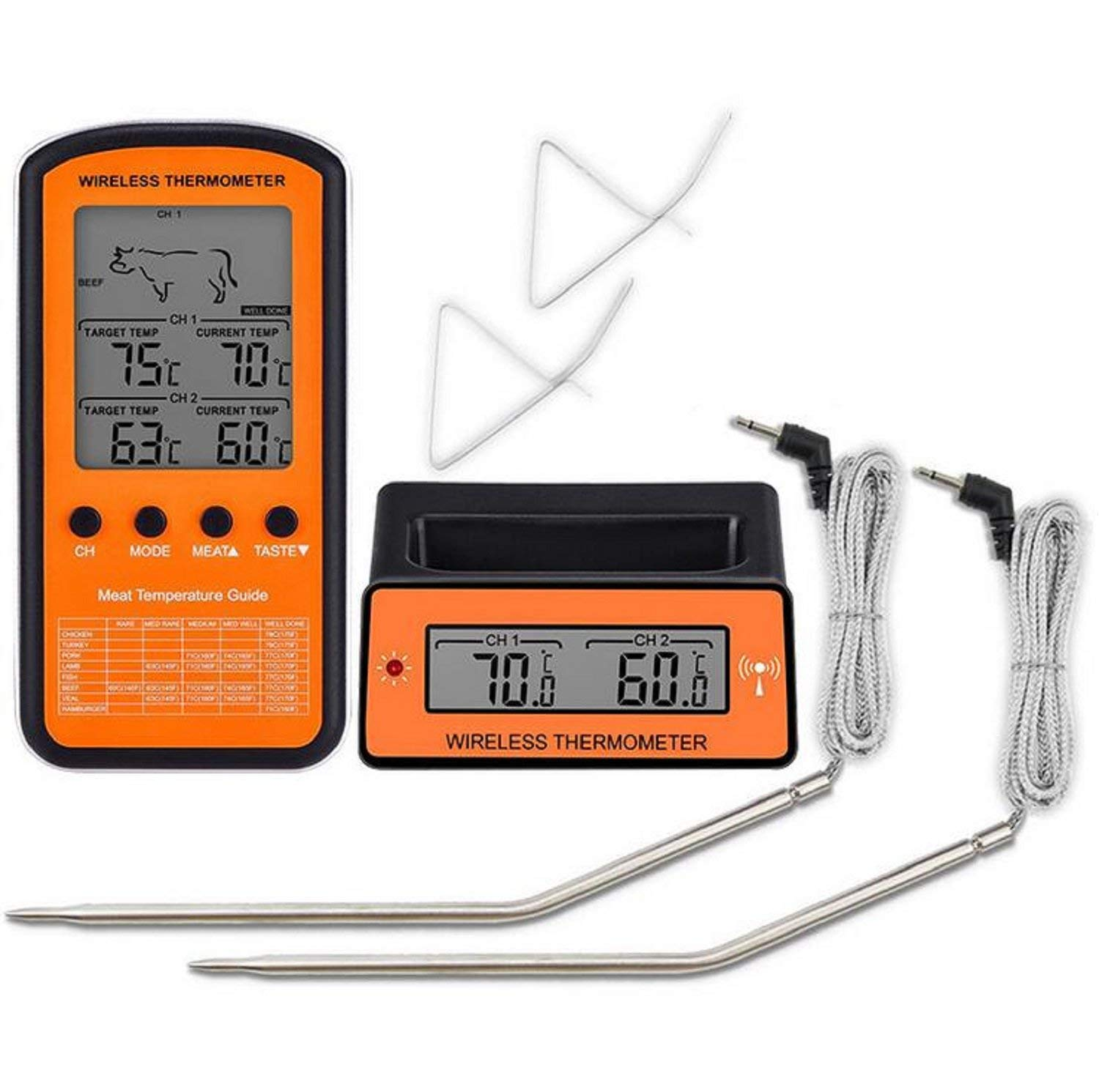 Cheap High Temperature Thermometer Probe Find Digital Remote Circuit Get Quotations Pitsa Meat With 2 Stainless Steel Wireless For Oven Kitchen