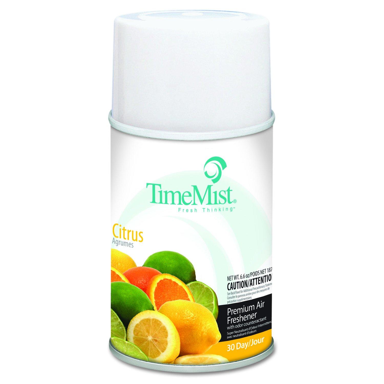 TimeMist TMS 2508 TMS332508TMCACT Metered Fragrance Dispenser Refill, Citrus, 6.6 oz., Aerosol (Pack of 12)