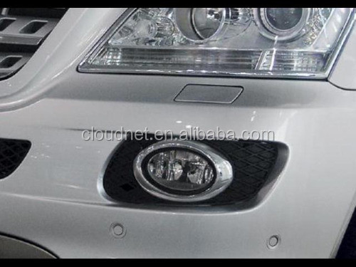 Chrome Oval Front Fog Light Cover for Mercedes Benz W164 ML Class 06-08
