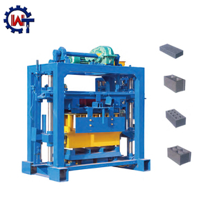 Hot sale QT40-2 manual operated cement block brick moulding machine processing