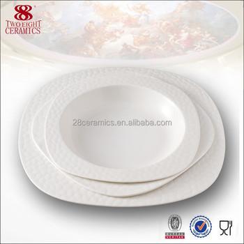 Guangzhou 8 inch ceramic soup plate square modern restaurant plates  sc 1 st  Alibaba & Guangzhou 8 Inch Ceramic Soup Plate Square Modern Restaurant Plates ...