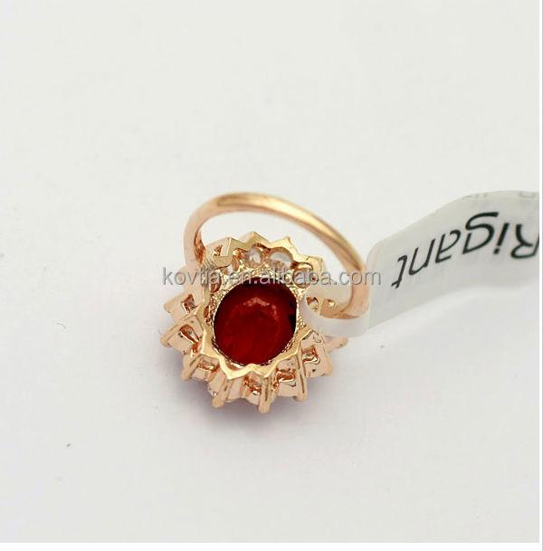 Goldring mit rotem stein  Heißer Verkauf Mode Rubin Ehering Eingraviert Diamant Goldring Mit ...