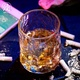 Handcrafted whisky glass heat-resistant glass water glass