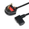 6ft black white BSI fused 5A 10A 13A UK power cord to IEC C13 250V extension mains power cord plug