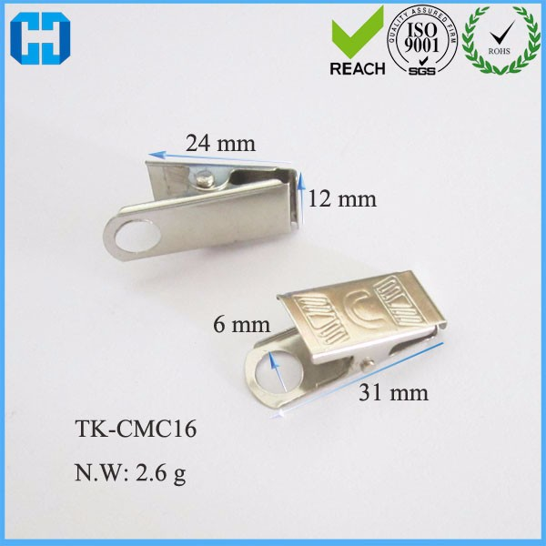 Wholesale Silver Tone Bulldog Clip ID Badge Holder