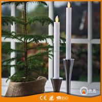 Home and Party decorative Moving Flame Flameless led taper candle