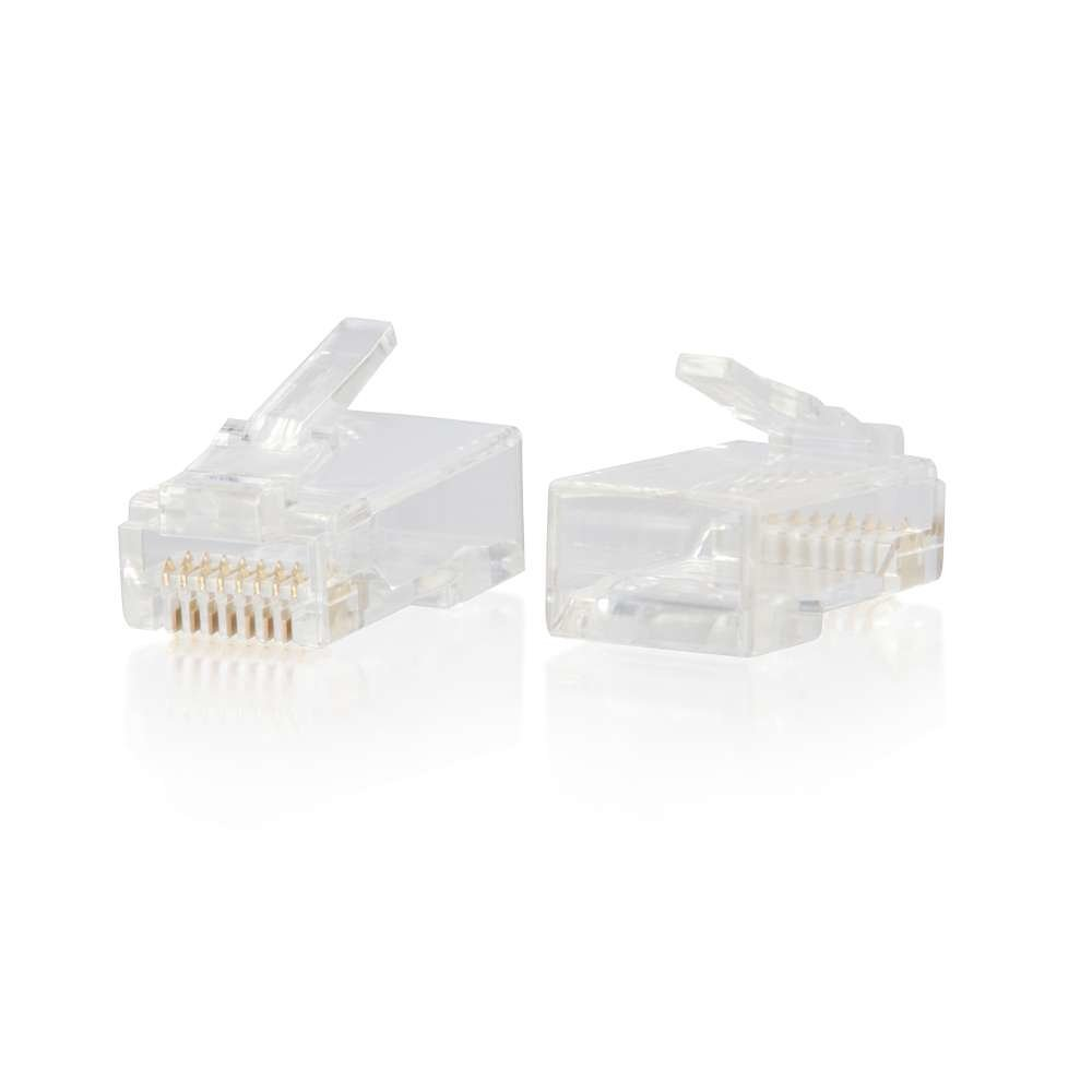 C2G C2G RJ45 Cat6 Modular Plug for Round Solid/Stranded Cable - 100pk