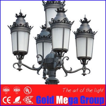 5 Years Warranty 5m Cast Aluminum Garden Light Led Post Top Lantern Street Outdoor Lighting