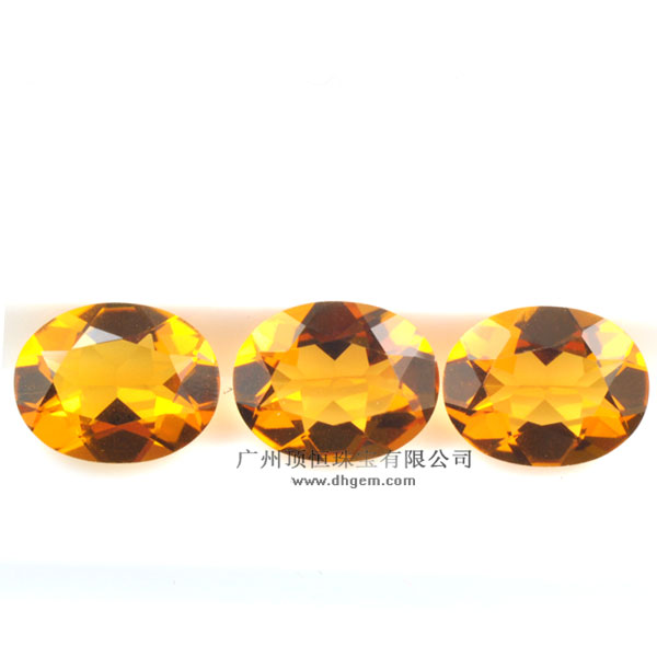 High Quality Fashion Oval Shape Hydrothermal Citrine Quartz Stone Wholesale Price
