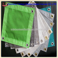 LOWER PRICE FIREPROOF SUNSHADE NET FIREPROOF PVC MESH FABRIC