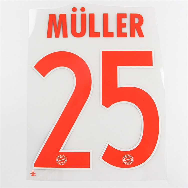 Custom iron on transfer numbers and letters For jersey