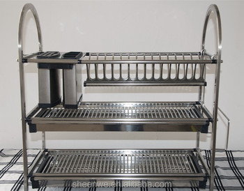 3 Tiers Stainless Steel Kitchen Dish Rack Buy Kitchen